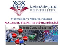 Slayt 1 - Malzeme Bilimi ve Mühendisliği Bölümü