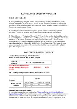 Detaylı bilgi için tıklayınız. - Hacettepe Üniversitesi Hukuk Fakültesi