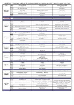 2013-2014 EĞİTİM-ÖĞRETİM YILI BAHAR DÖNEMİ ARA SINAV