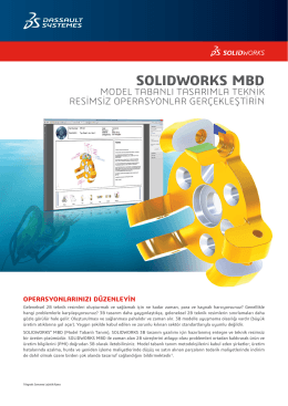 SOLIDWORKS MBD Veri Sayfası