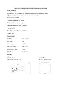 plussmart ht 350 set oda termostatı kullanım kılavuzu