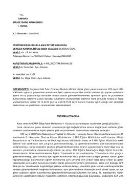 İlgili Bölge İdare Mahkemesi kararı için tıklayınız (2) - Türk Eğitim-Sen