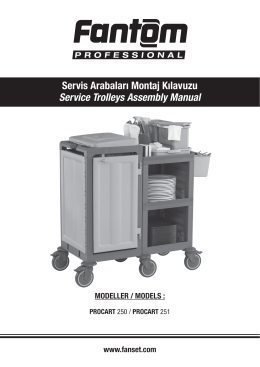 Servis Arabaları Montaj Kılavuzu Service Trolleys Assembly