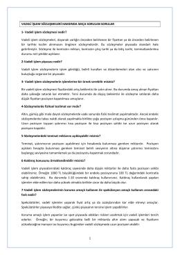 Vadeli işlem sözleşmesi nedir?