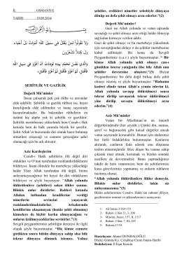 ŞEHİTLİK VE GAZİLİK - Osmaniye İl Müftülüğü