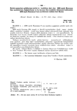 MADDE 1. — 4598 sayılı Kanunun 9 ncu maddesi