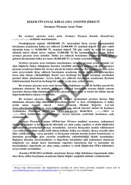ŞEKER FİNANSAL KİRALAMA ANONİM ŞİRKETİ