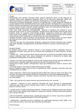 TOTM-OFR-287 Kraniosinestoz Ameliyatı Aydınlatılmış Onam Formu