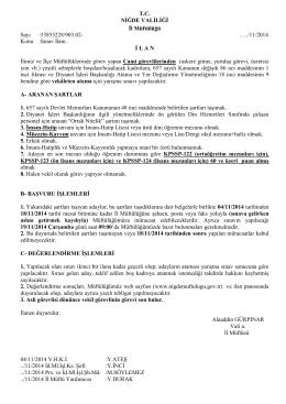 vekil görevli sınav ilanı