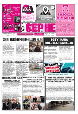 04.12.2014 Tarihli Cephe Gazetesi