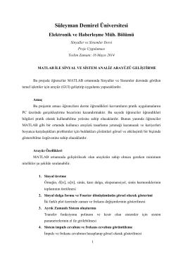 Süleyman Demirel Üniversitesi Elektronik ve Haberleşme Müh