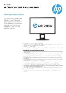 HP DreamColor Z24x Profesyonel Ekran