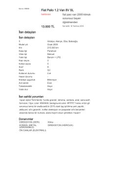 Fiat Palio 1.2 Van 8V SL 13.000 TL İlan detayları