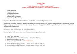 Antalya Merkez Temel Atme ve Açılış Merasimi