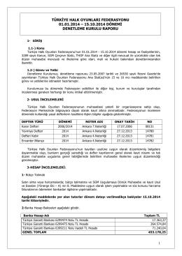 01.01.2014-15.10.2014 denetim kurulu raporu