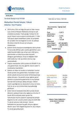 Maliyetlere Paralel Satışlar, Yüksek Giderler, Yeni