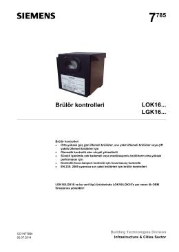 7785 Brülör kontrolleri LOK16... LGK16
