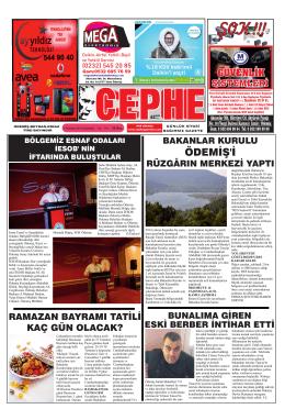 05.07.2014 Tarihli Cephe Gazetesi