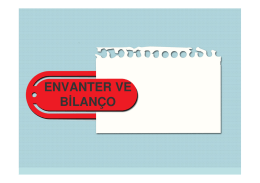 ENVANTER VE BİLANÇO