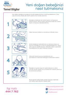 Yeni doğan bebeğinizi nasıl tutmalısınız