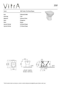 Tanım S50 Yerden Tek Klozet Beyaz Kod :5304L003-0088