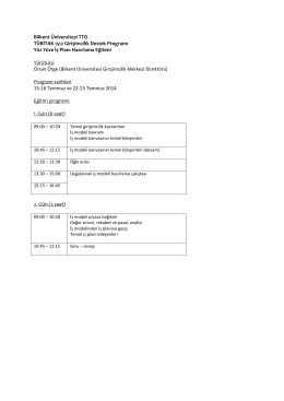 Bilkent Üniversitesi TTO TÜBİTAK 1512 Girişimcilik Destek Programı