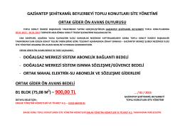 Site Yönetim Duyurusu