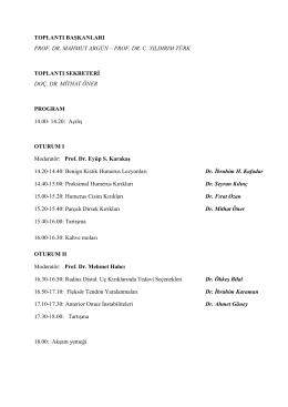 Bölgesel Kayseri Bilgi Yenileme Toplantısı