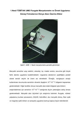 1.Nesil TÜBİTAK UME Fluxgate Manyetometre ve Örnek Uygulama