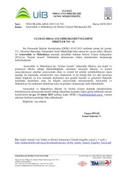Arnavutluk ve Makedonya ile Hizmet Ticareti Müzakereleri Hk.