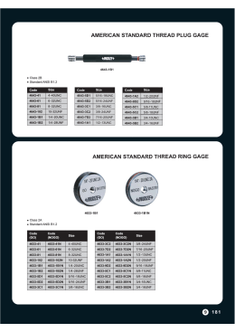 AMERICAN STANDARD THREAD RING GAGE