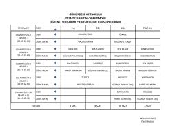 gümüşdere ortaokulu 2014-2015 eğitim