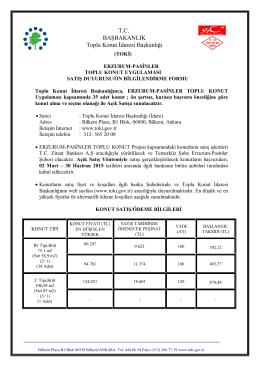 Satış duyurusu / ön bilgilendirme formu