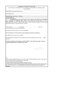 Not : *Teklif mektupları 04/03/2015 tarihi ve saat 17:00` a