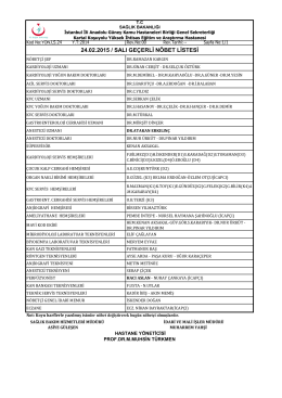 24.02.2015 - Kartal Koşuyolu Yüksek İhtisas Eğitim ve Araştırma