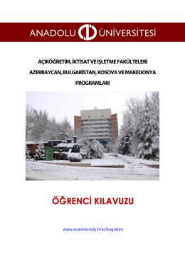 öğrenci kılavuzu - Anadolu Üniversitesi