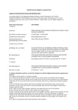 Çankaya Belediye Başkanlığı Fen İşleri Müdürlüğü Sigortacılık
