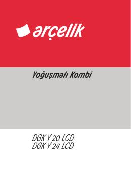 Yoğuşmalı Kombi DGK Y 20 LCD DGK Y 24 LCD
