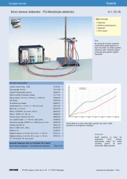 Elektrik İkinci derece iletkenler. FG-Modülüyle elektroliz 4.1.13-15