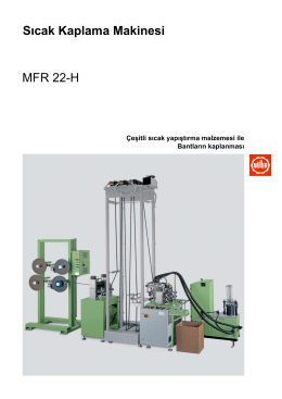 Sıcak Kaplama Makinesi MFR 22-H