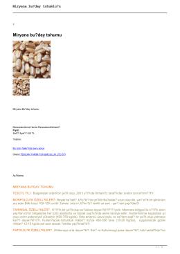 Miryana buğday tohumluğu