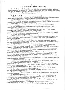 06.01.2015 Meclis Toplantısı Gündem Maddeleri