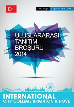 uluslararası tanıtım broşürü 2014