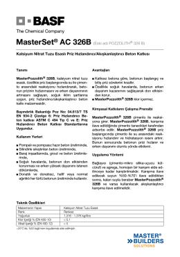 MasterSet® AC 326B (Eski adı POZZOLITH® 326 B