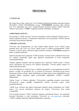 aydın üniversitesi sözleşme - türkiye havayolu pilotları vakfı