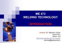 me 473 weldıng technology ıntroductıon
