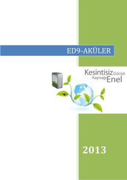 ED9-AKÜLER - Enel Enerji Elektronik