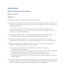 Provision Regarding Doctoral Program (in Turkish)