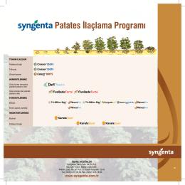 Patates İlaçlama Programı