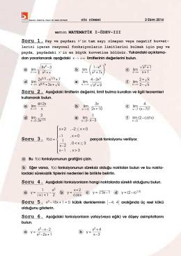 Soru 3. f(x) =